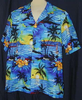 cbf43fe7 Aloha Hawaiian shirts, bowling attire, plus size styles, classic retro  vintage clothing gifts! - Royal Hawaiian Aloha Hawaii Sunset ShirtRoyal  Hawaiian ...